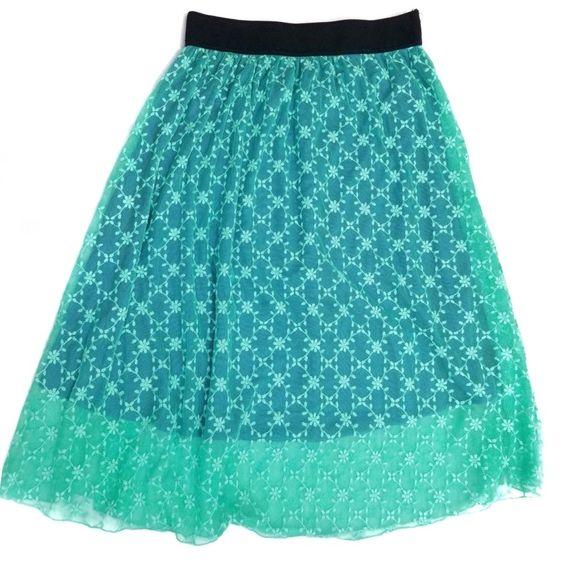 LuLaRoe | Lola Lace Lined Midi Skirt